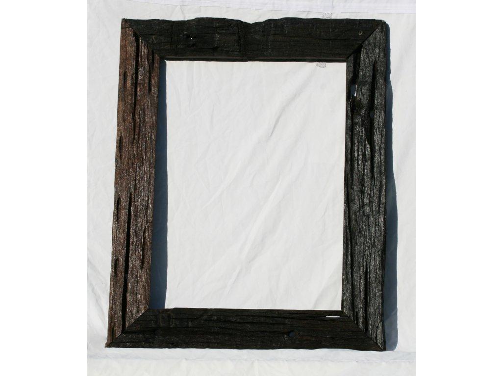 Dřevěné zrcadlo teak ze starých železničních pražců model 90 100x80cm