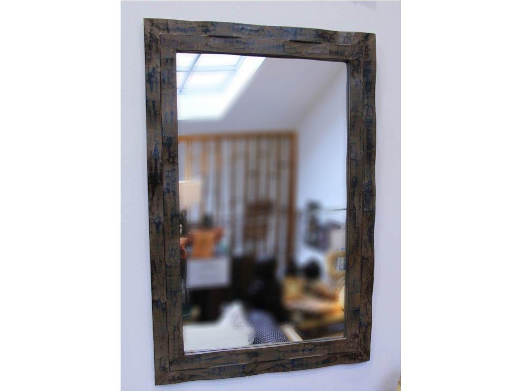Dřevěné zrcadlo masiv s řezbou model 95 80x60cm