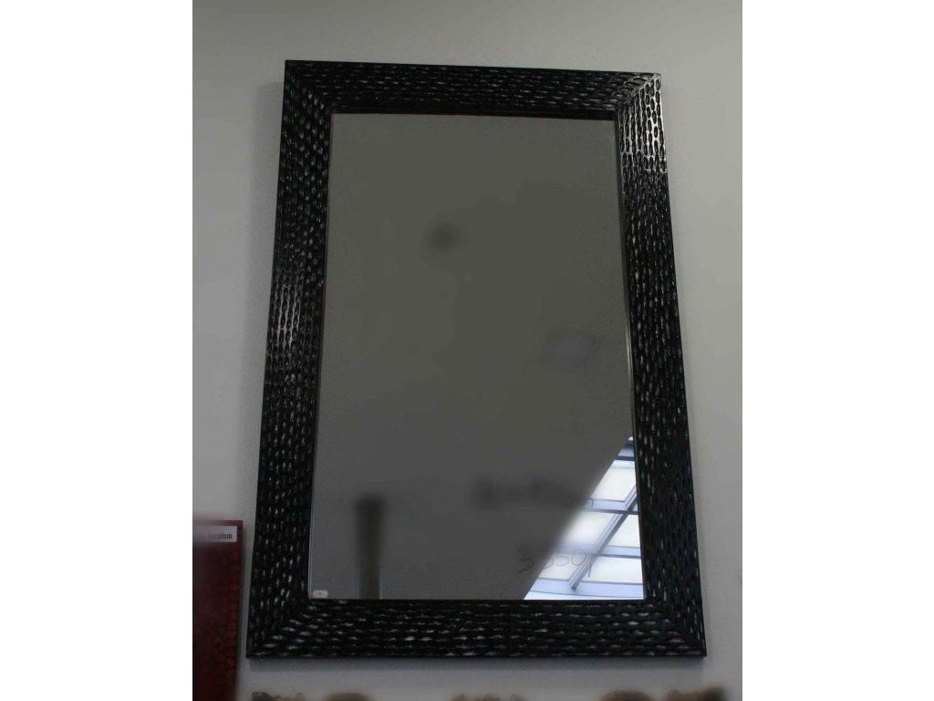 Dřevěné zrcadlo masiv s řezbou model 96 80x60cm