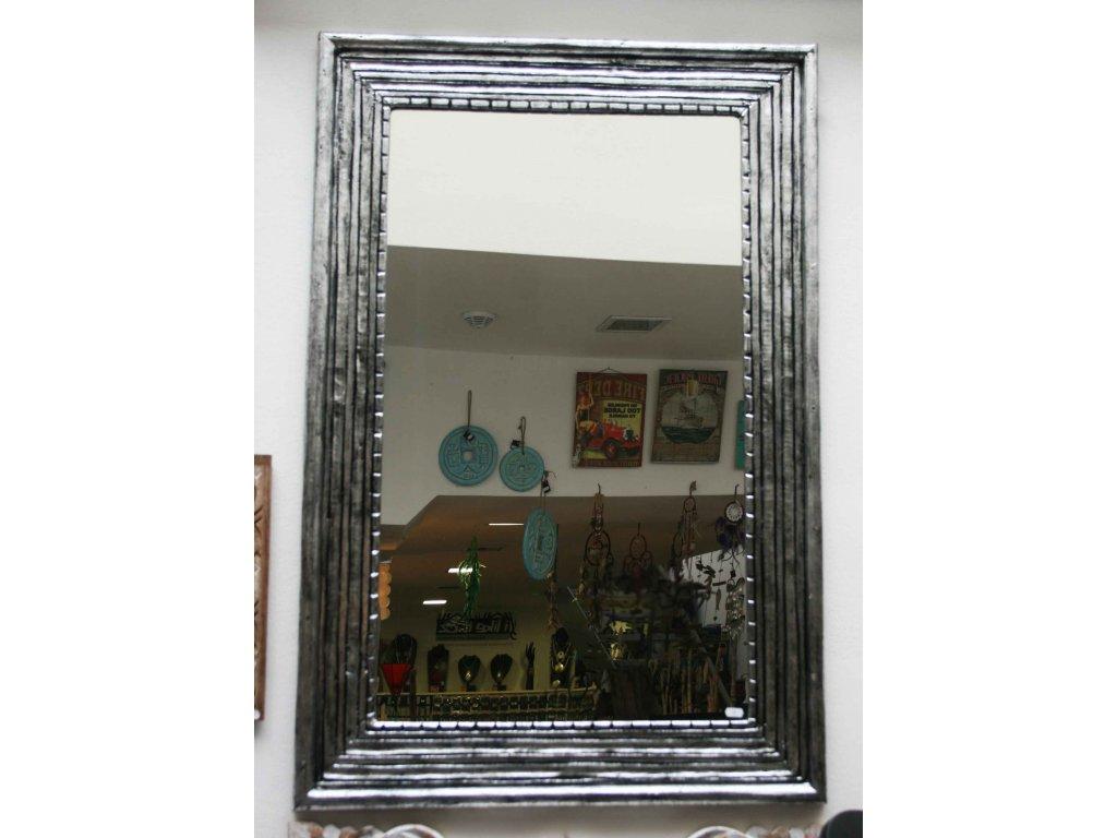 Dřevěné zrcadlo masiv s řezbou model 97 80x60cm