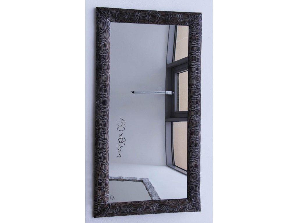 Dřevěné zrcadlo masiv s řezbou model 103 150x80cm