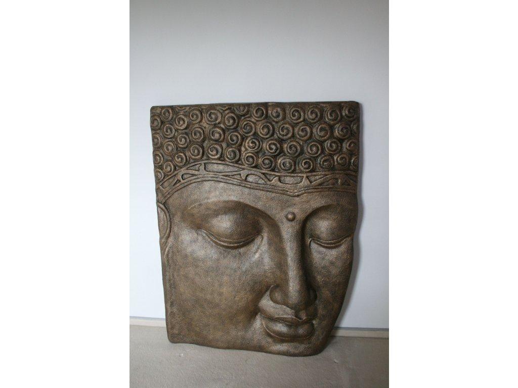 Plastika obličej Budha Buddha face - výška 123cm