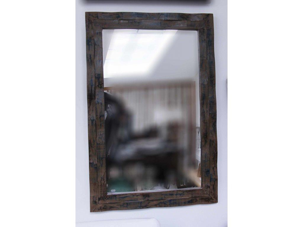 Dřevěné zrcadlo masiv s řezbou model 109 120x80cm