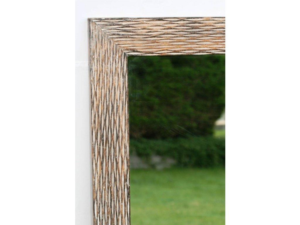 Dřevěné zrcadlo masiv s řezbou model 24120x60cm