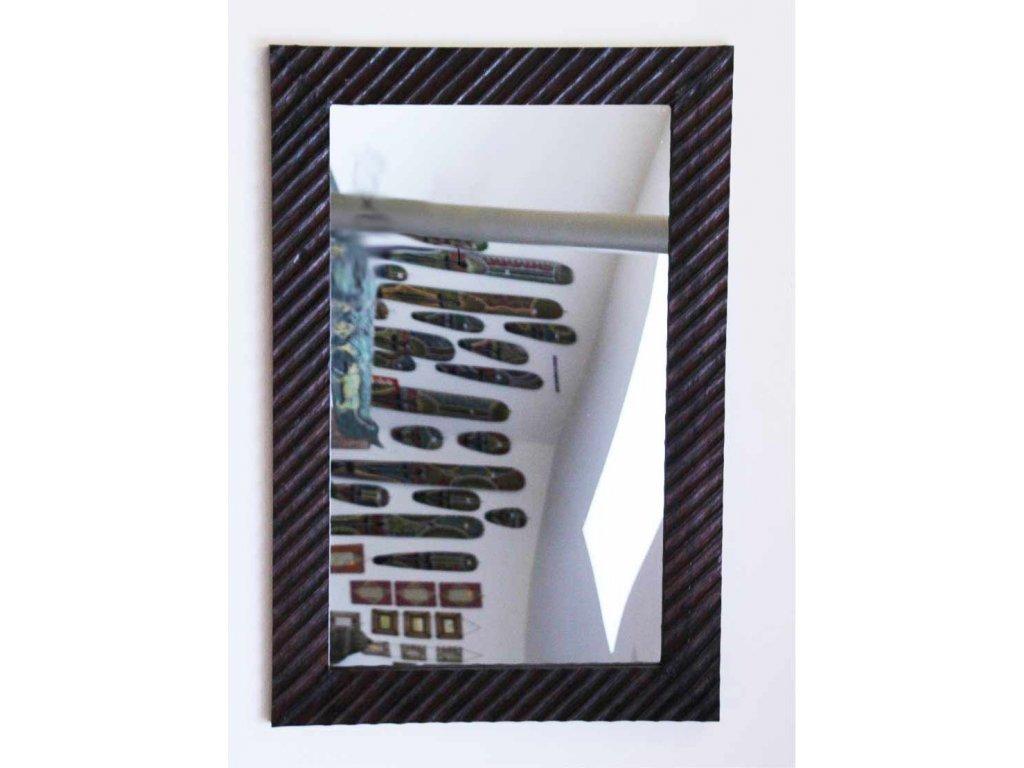 Dřevěné zrcadlo masiv s řezbou model 98 80x60cm