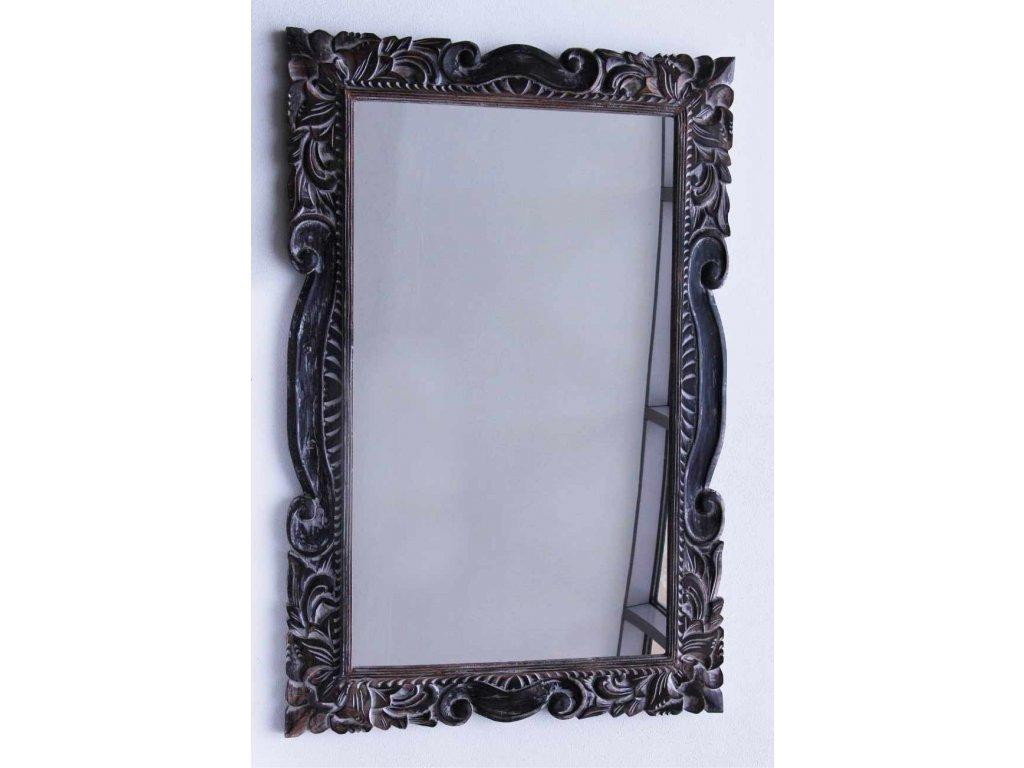 Dřevěné zrcadlo masiv s řezbou model 114 150x70cm