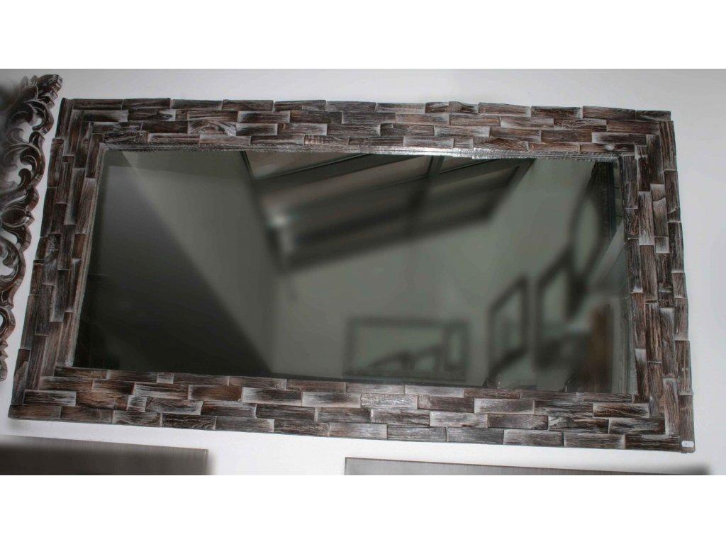 Dřevěné zrcadlo masiv teak model 121 150x80cm