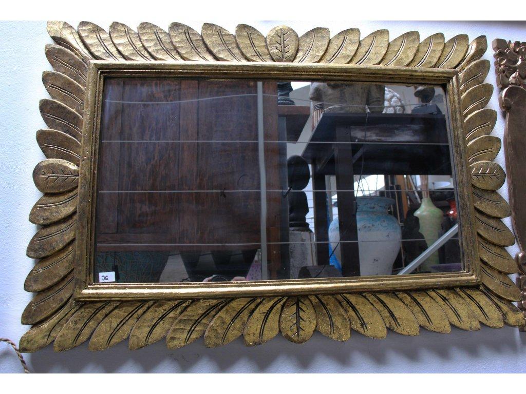 Dřevěné zrcadlo masiv model J6 90x60cm