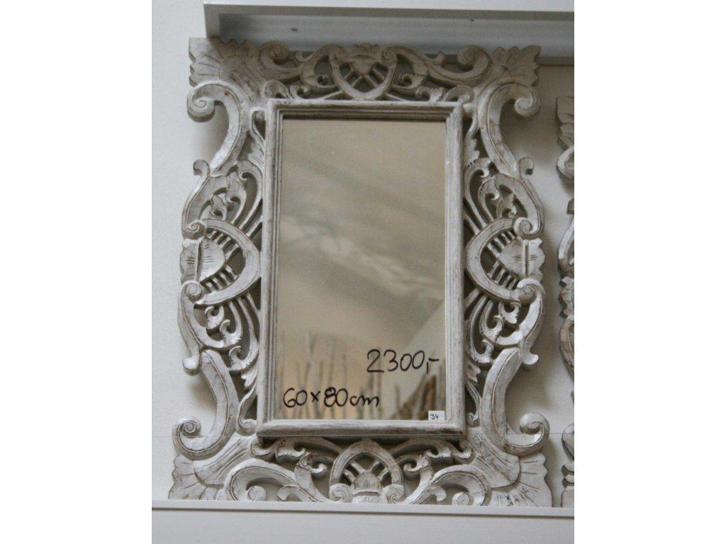 Dřevěné zrcadlo masiv model J4 80x60cm