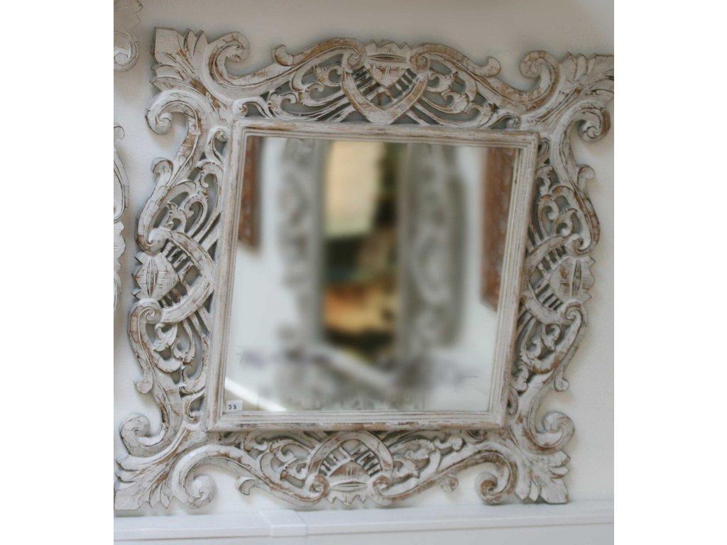 Dřevěné zrcadlo masiv model J3 76x76cm