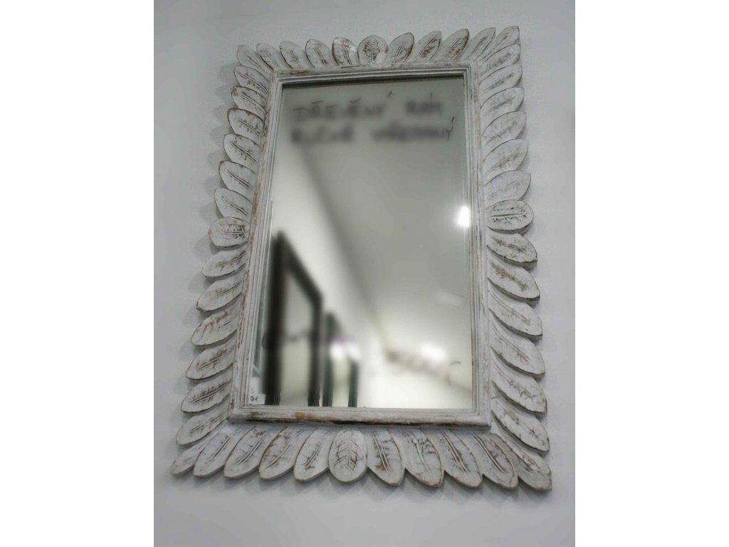 Dřevěné zrcadlo masiv model J1 90x60cm