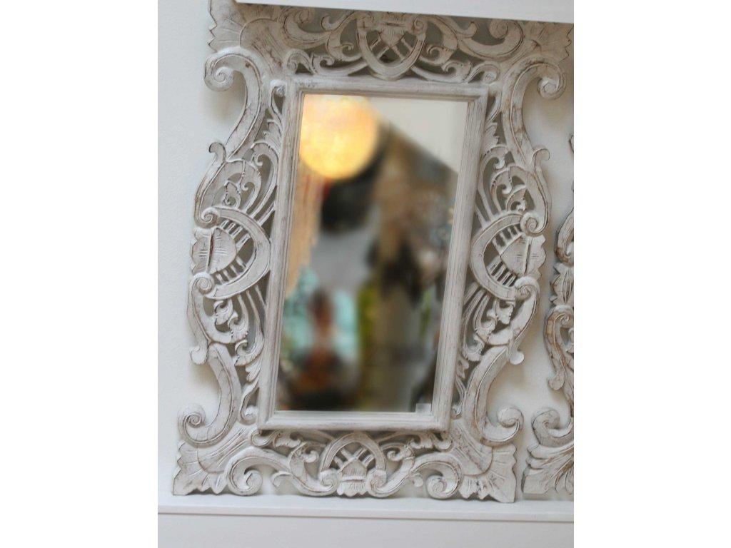 Dřevěné zrcadlo masiv model J2 85x60cm