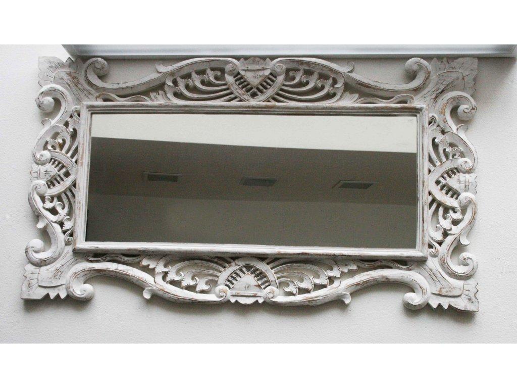 Dřevěné zrcadlo masiv model J5 120x70cm