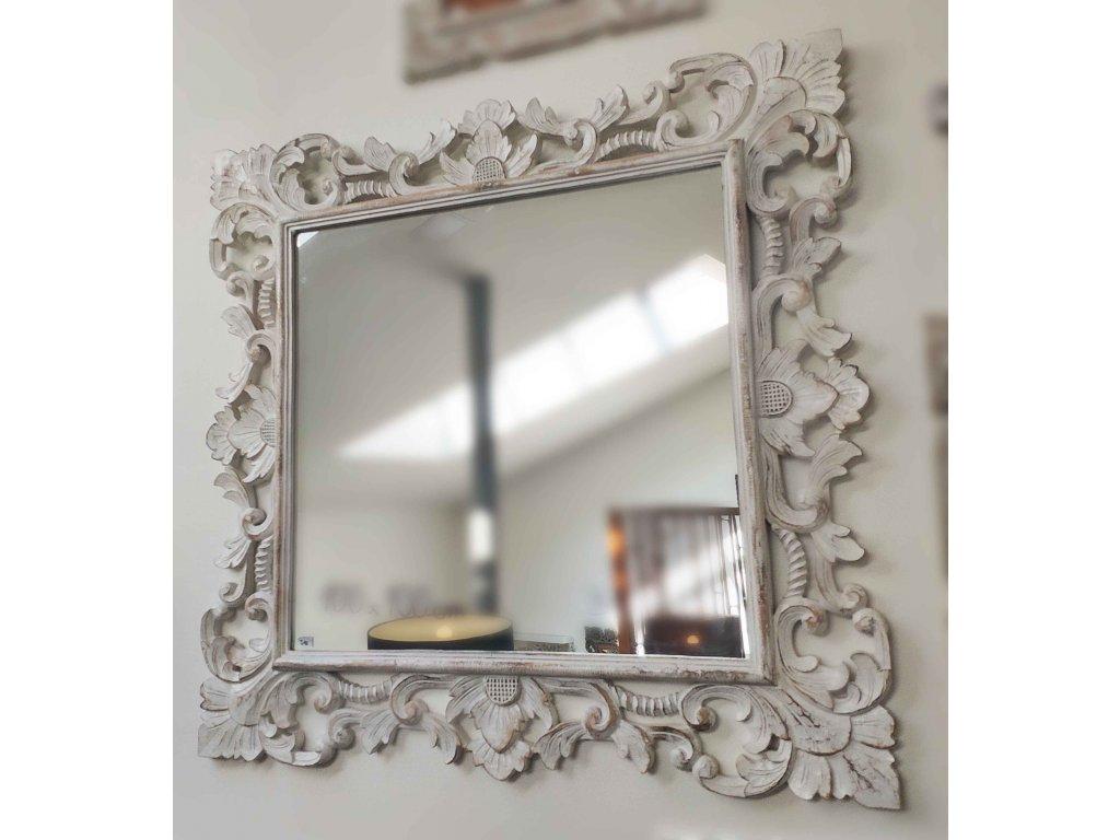 Dřevěné zrcadlo masiv model J10 100x100cm