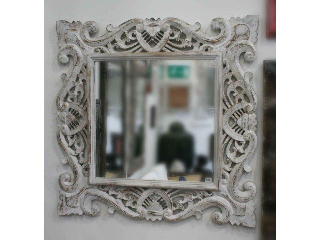 Dřevěné zrcadlo masiv model J11 80x80cm