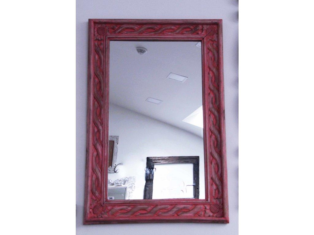 Dřevěné zrcadlo masiv model J22 90x60cm