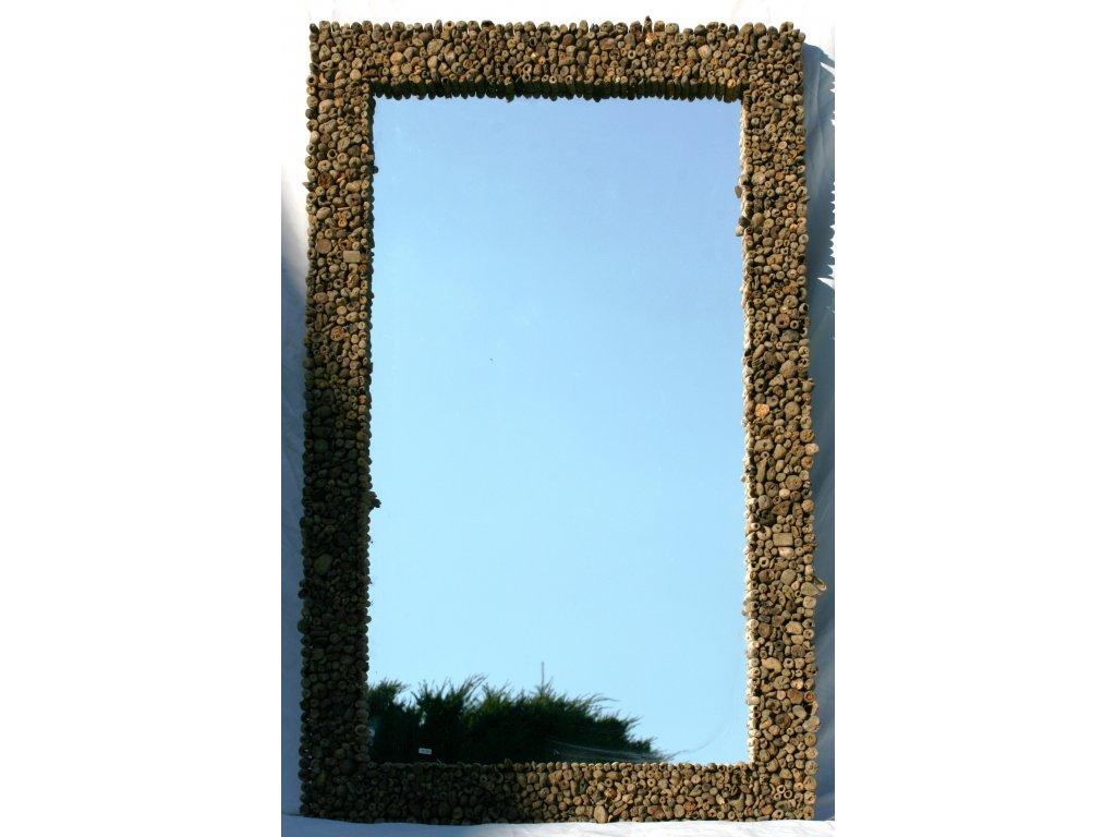 Zrcadlo z vyplaveného dřeva model 46 130x80cm