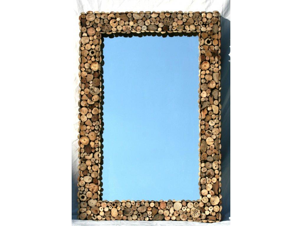 Zrcadlo z vyplaveného dřeva model 49 120x80cm
