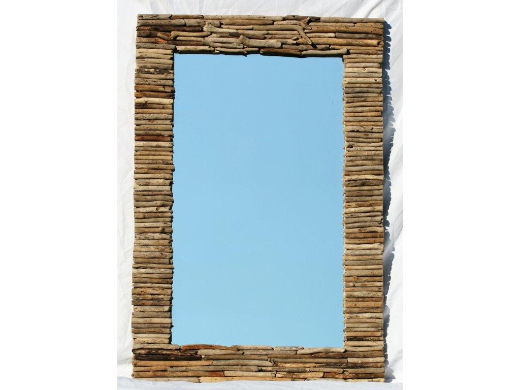 Zrcadlo z vyplaveného dřeva model 52 120x80cm