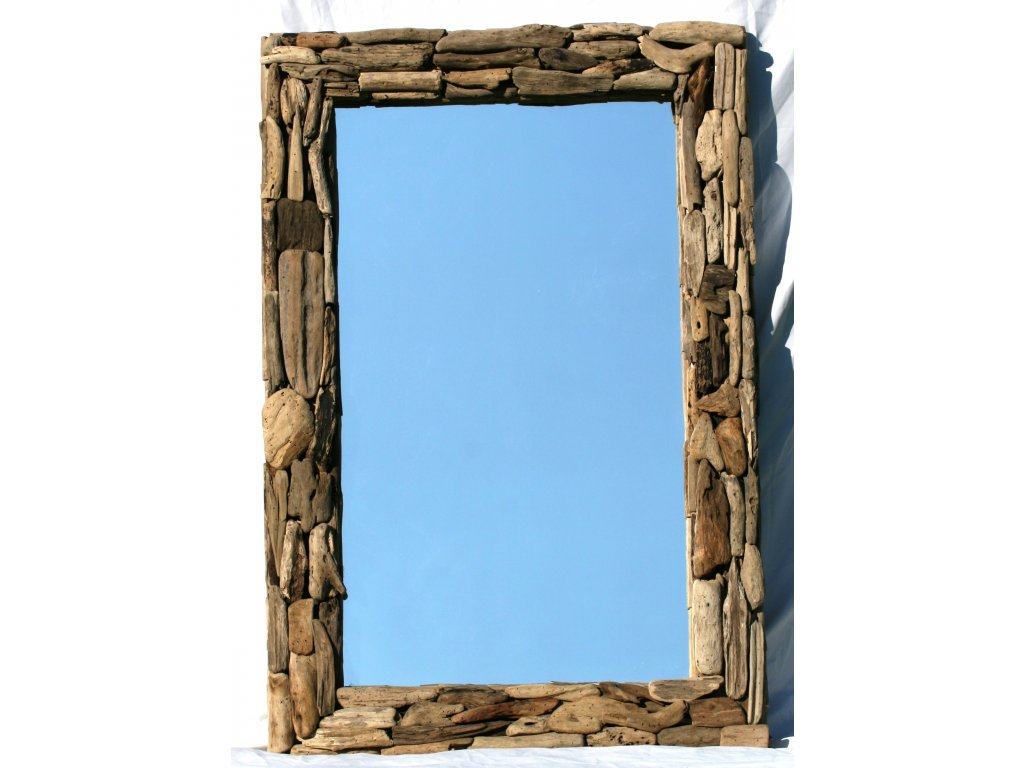 Zrcadlo z vyplaveného dřeva model 48 120x80cm
