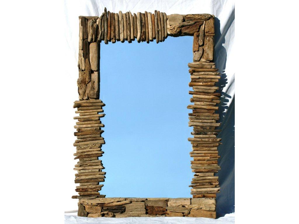 Zrcadlo z vyplaveného dřeva model 50 120x80cm Zig Zag