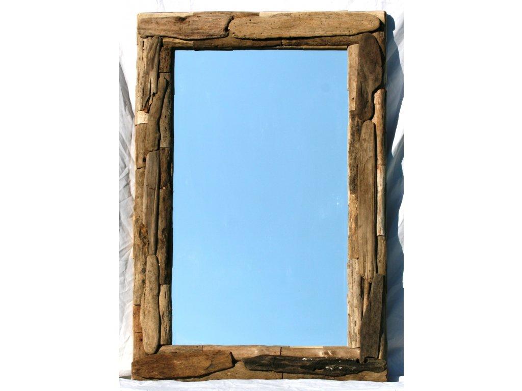 Zrcadlo z vyplaveného dřeva model 51 120x80cm