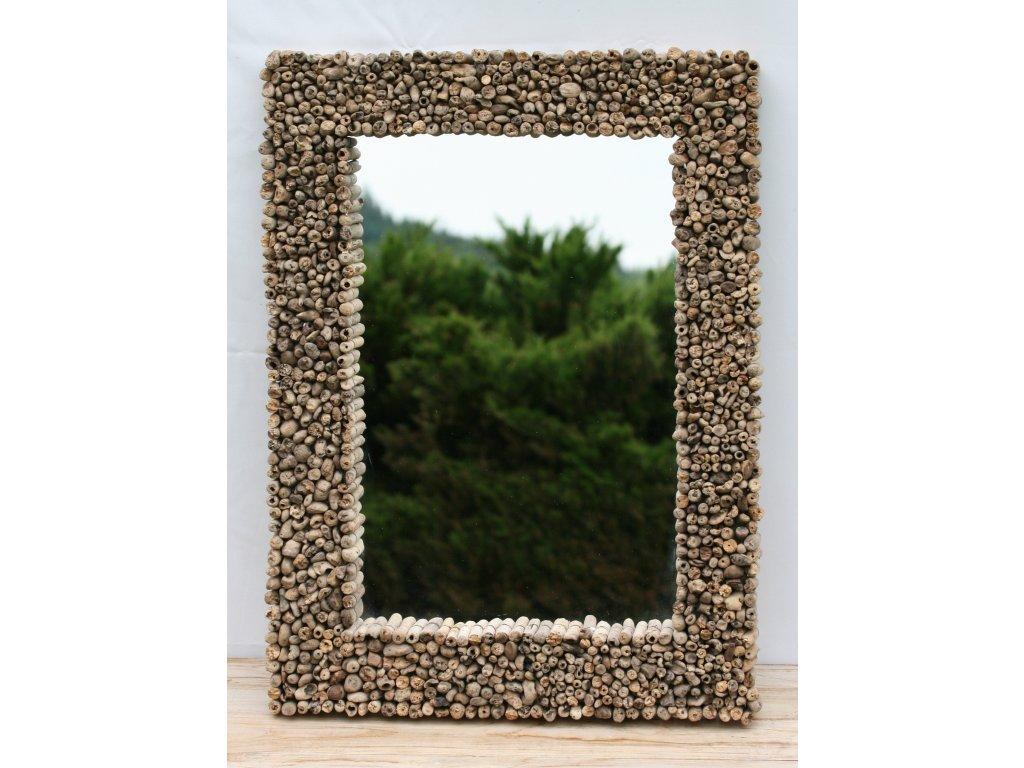 Zrcadlo z vyplaveného dřeva model 44 80x60cm