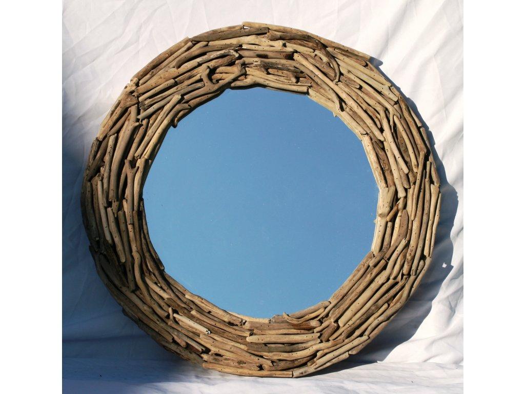 Zrcadlo z vyplaveného dřeva model 55 pr. 66cm