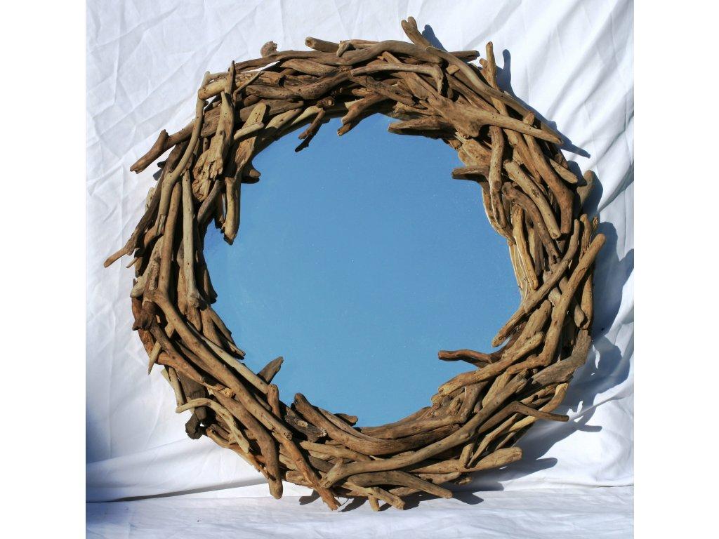 Zrcadlo z vyplaveného dřeva model 53 pr. 70cm