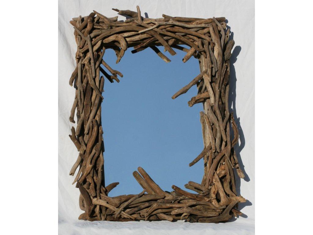 Zrcadlo z vyplaveného dřeva model 87 83x63cm