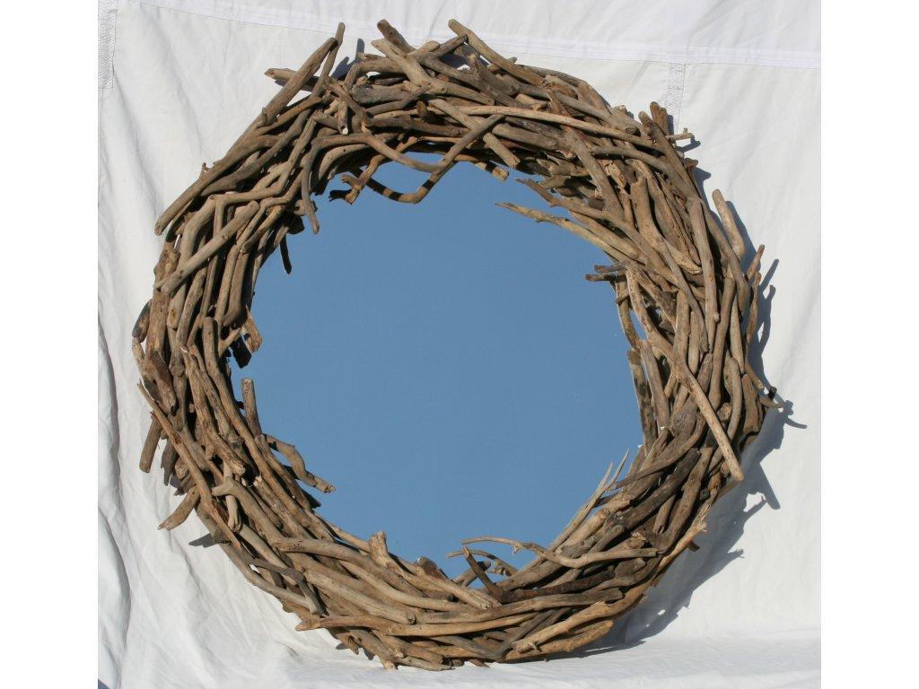 Zrcadlo z vyplaveného dřeva model 89 pr.108-110cm