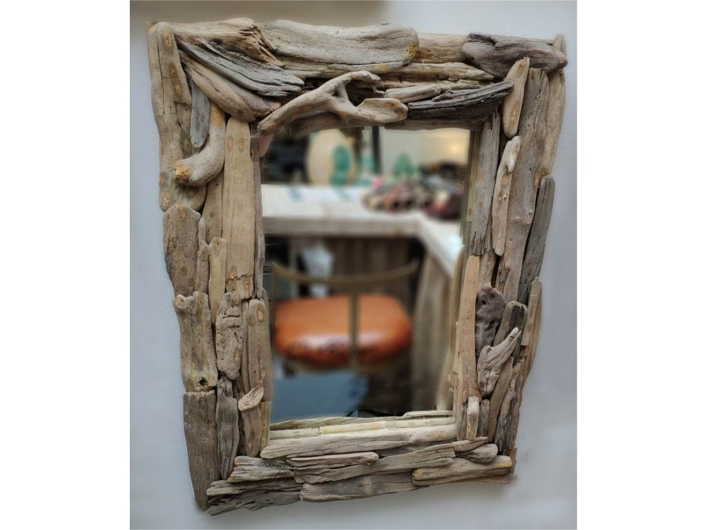 Zrcadlo z vyplaveného dřeva model 112 82x62cm