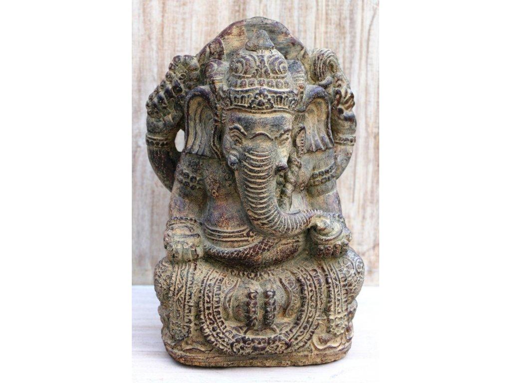 Socha Ganesha 35cm patina BY