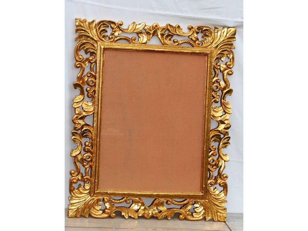 Ručně vyřezaný rám se sklem 80x60cm