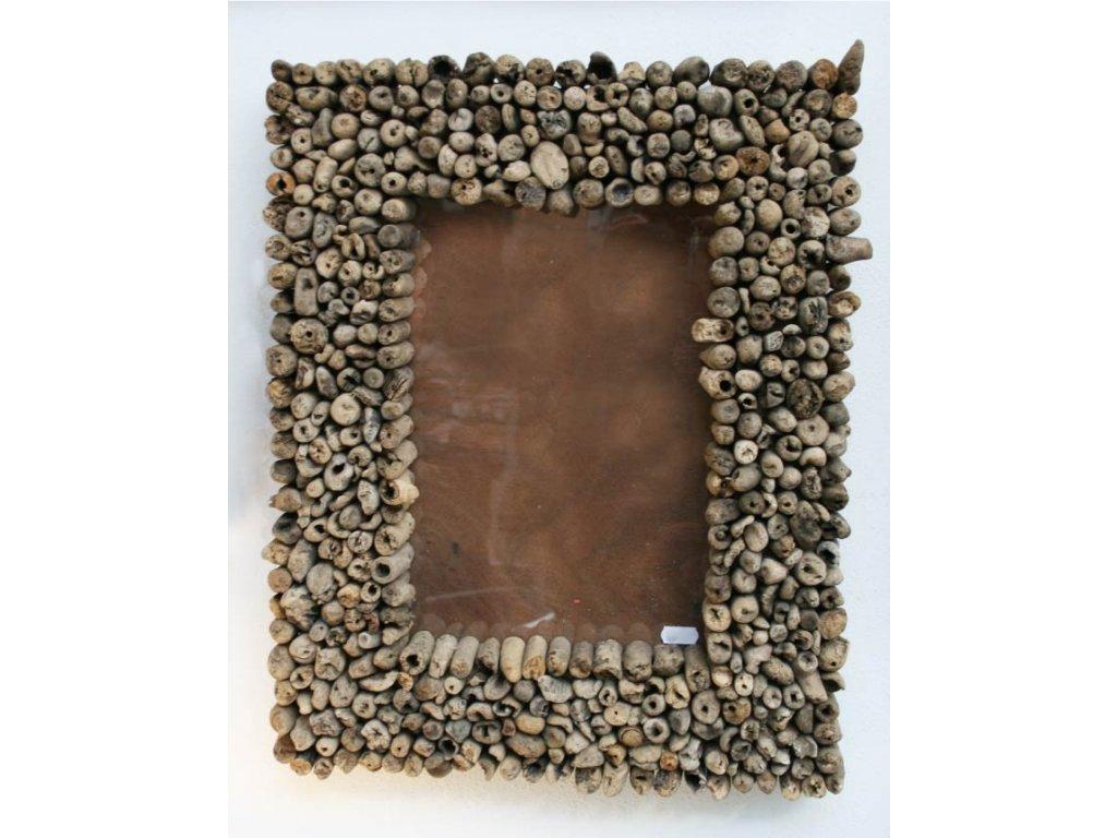 Rám z vyplaveného dřeva 40x50cm block slim natural