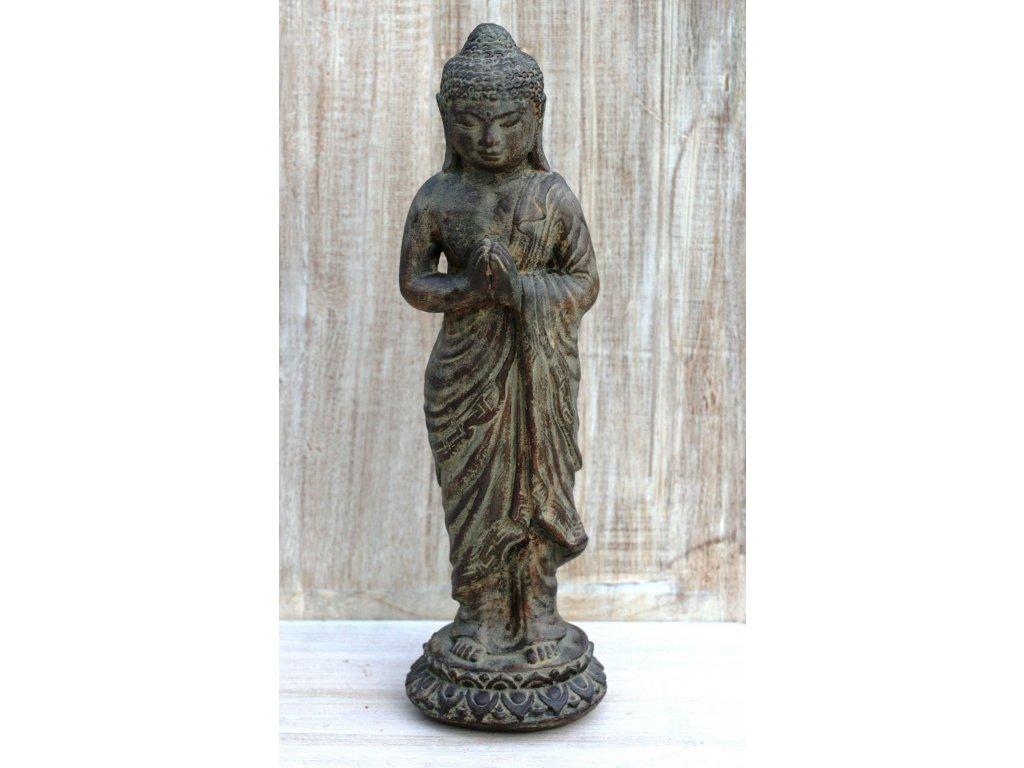 Socha Budha Buddha stojící 40cm patina BY