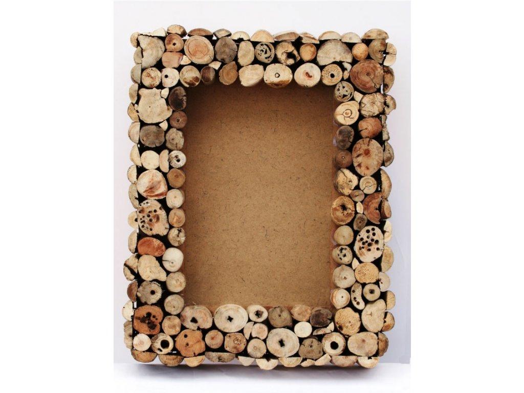 Rám z vyplaveného dřeva 35x45cm block chunky cut