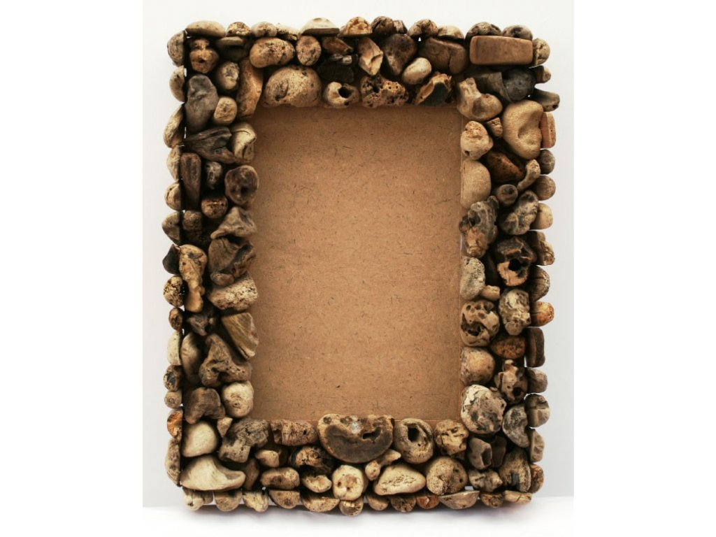 Rám z vyplaveného dřeva 35x45cm block chunky natural