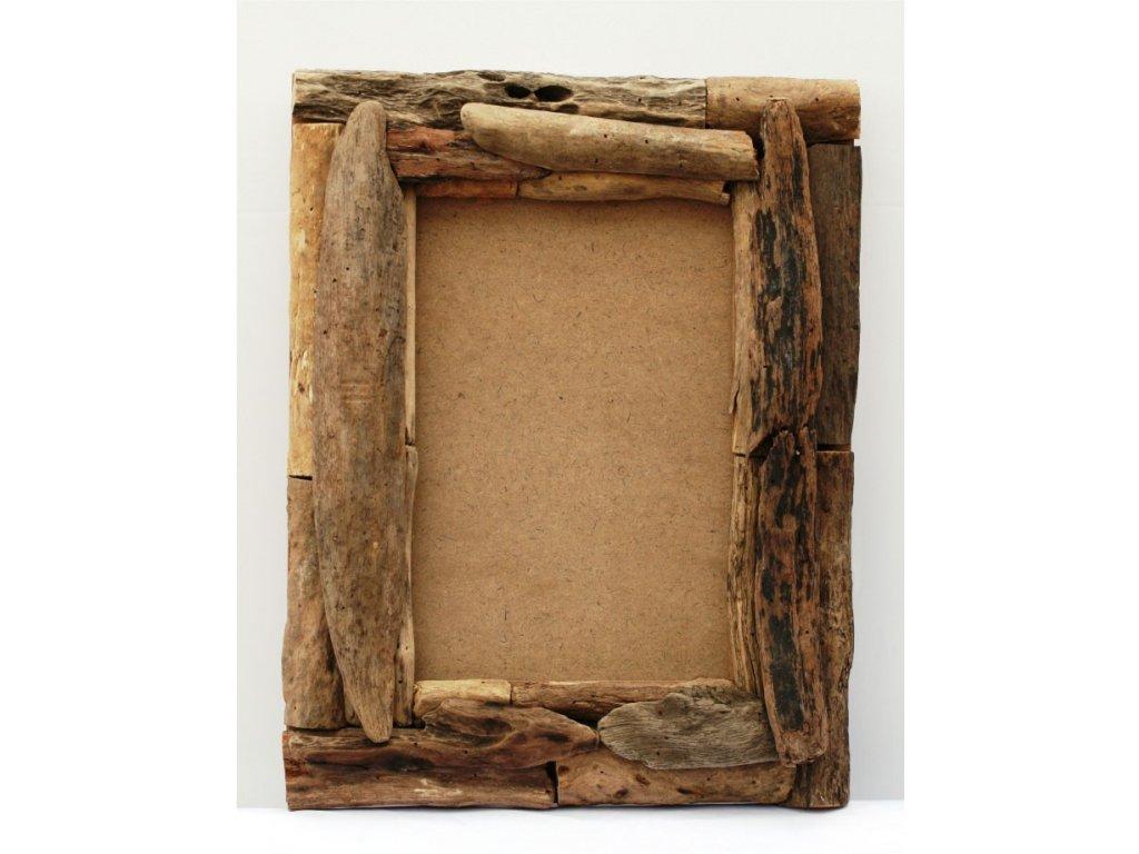 Rám z vyplaveného dřeva 35x45cm block natural