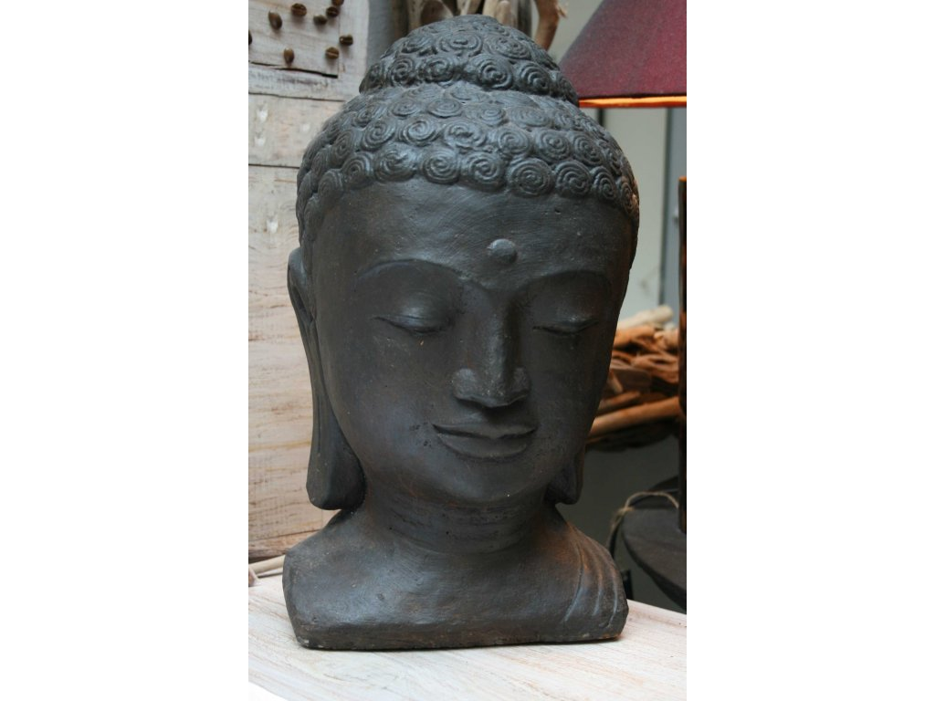 Socha Budha Buddha torzo 45cm patina DB
