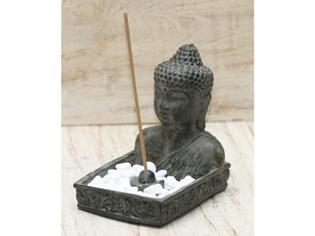 Zen zahrada Budha Buddha 13cm - stojánek na vonné tyčinky