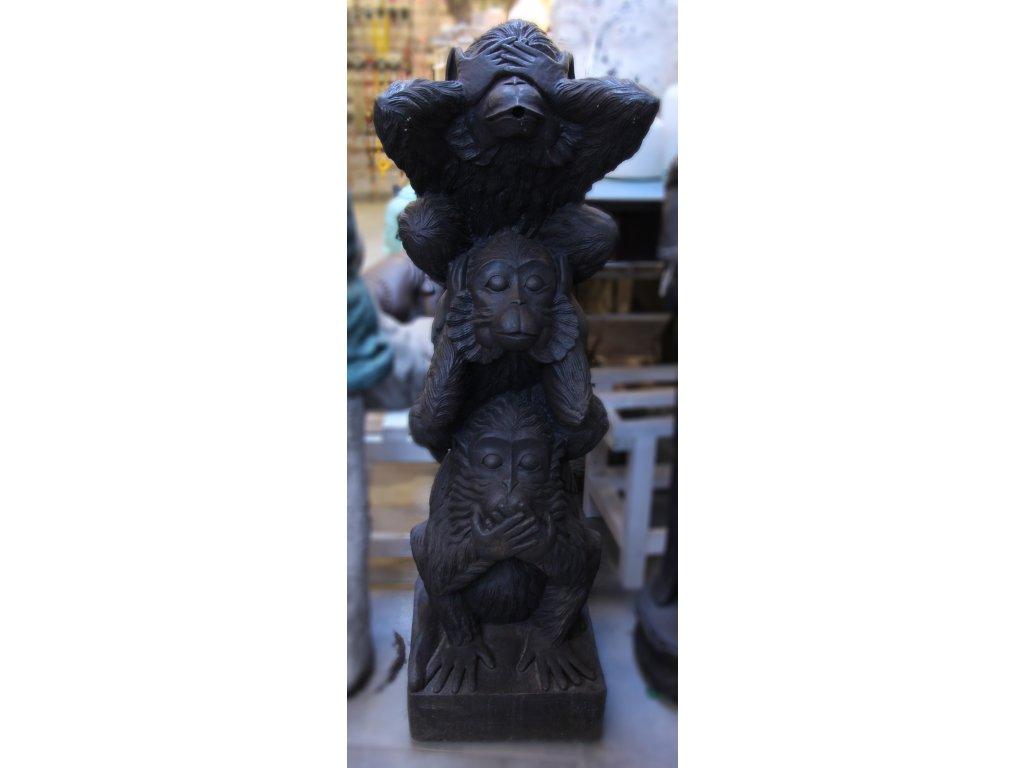 Socha Tři moudré opice 105cm patina DB
