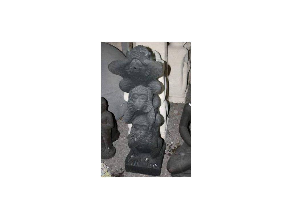 Fontána Tři moudré opice 105cm patina DB