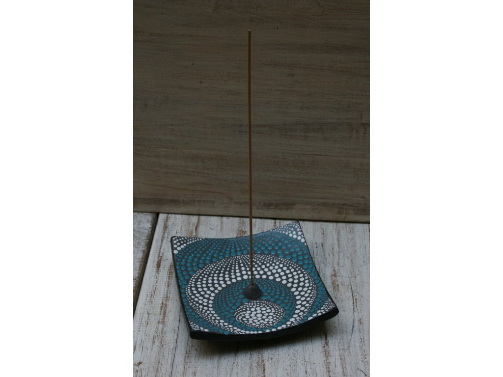 Stojánek na vonné tyčinky modrá 15x15cm