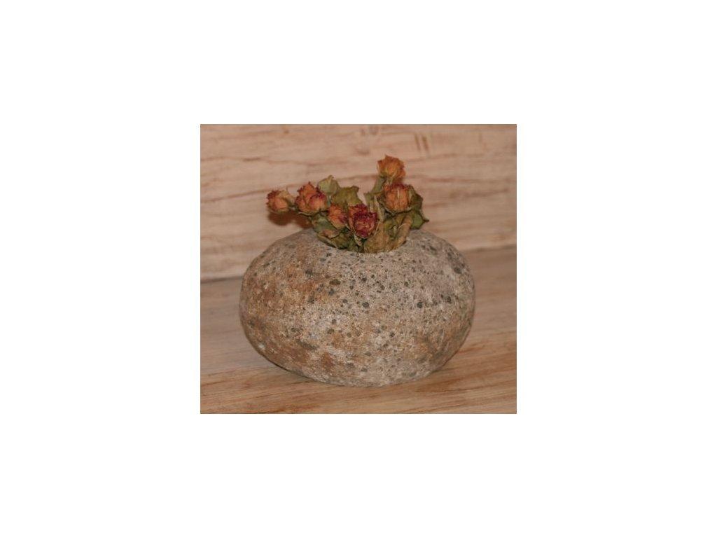 Váza stone z říčního kamene 14-16cm, 20-25cm