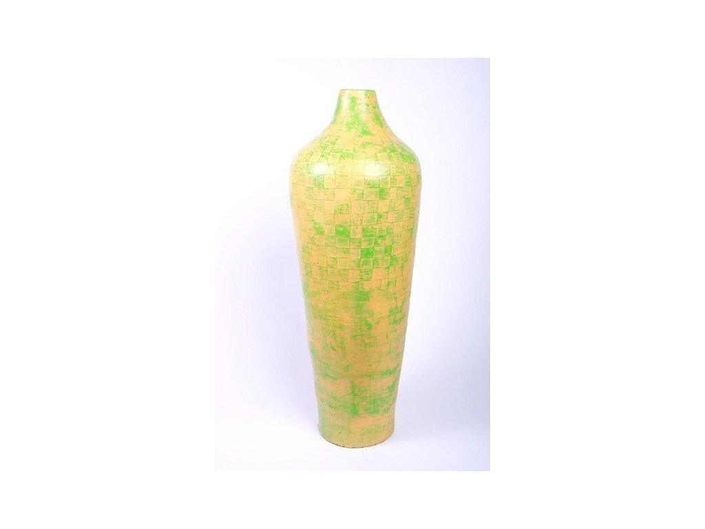 Váza terakota yellow-green výška 80cm