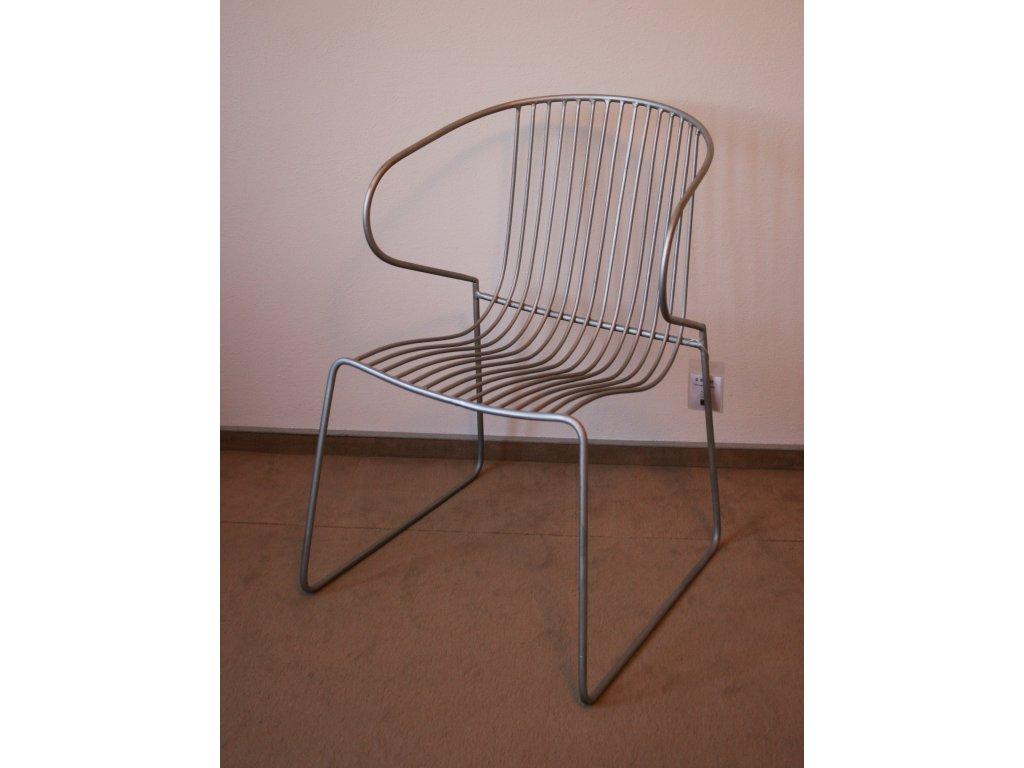 Kovová židle 54x54x78cm