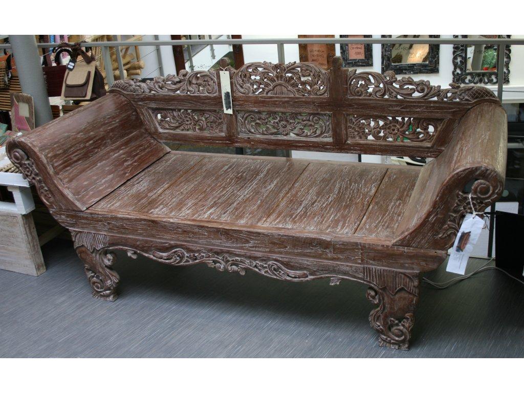 Balijská lavice teak 200x75x94cm