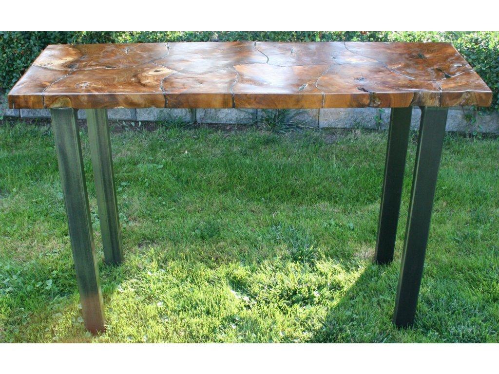 Stůl z teakového dřeva s pryskyřicí 120x40x80 cm