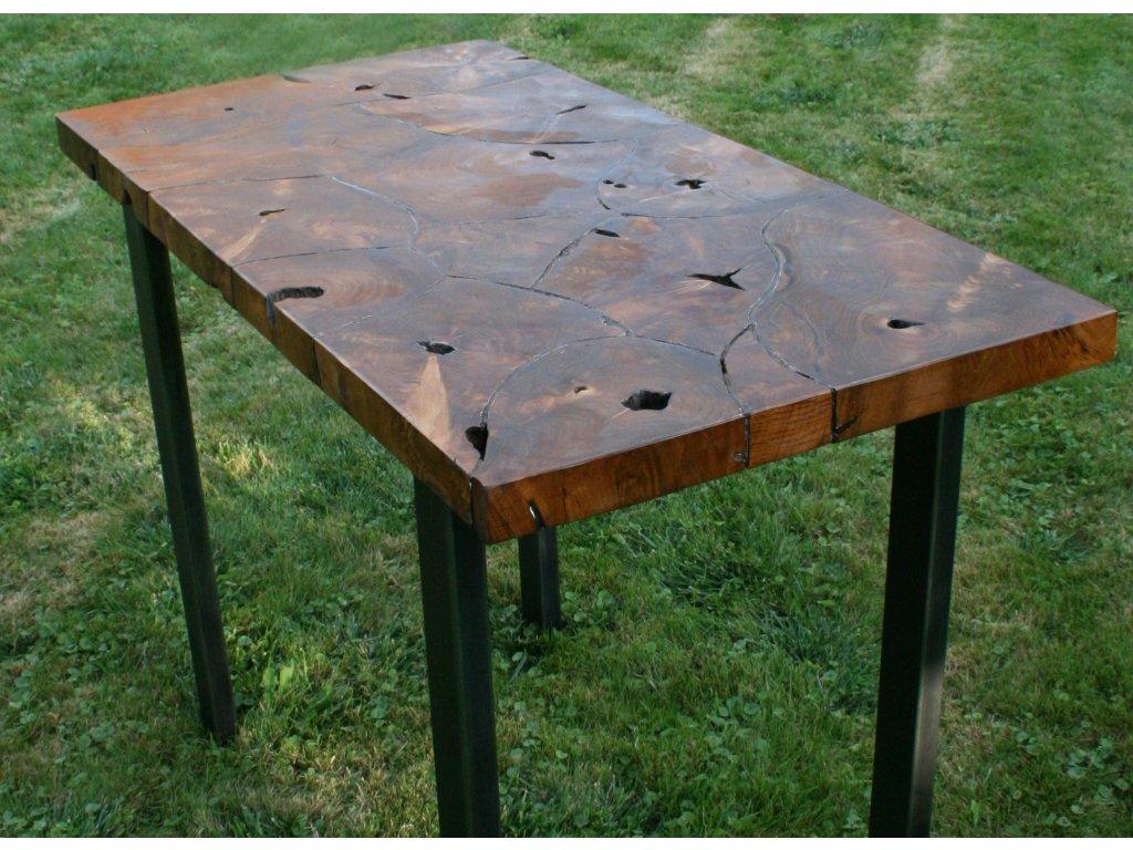 Stůl z teakového dřeva s pryskyřicí 110x55x80 cm